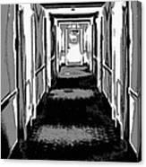 Long Hallway Canvas Print
