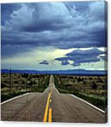 Long Highway Canvas Print