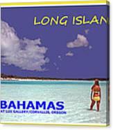 Long Island Bahamas IIi Canvas Print