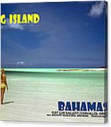 Long Island Bahamas Canvas Print