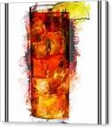 Long Island Iced Tea Cocktail Marker Sketch Canvas Print