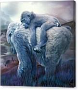 Silverback Gorilla - Long Journey Home Canvas Print
