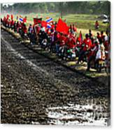 Long Journey Of The Red Rally Canvas Print