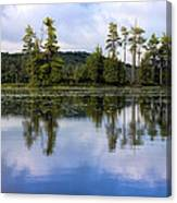 Long Lake Reflection Canvas Print