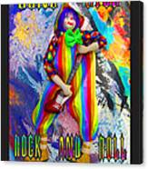 Long Live Rock And Roll Clowns Canvas Print