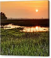 Long Marsh View Canvas Print