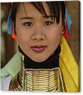 Long Necked Woman Of Thailand Canvas Print