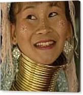 Long Necked Woman Thailand 5 Canvas Print