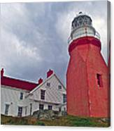 Long Point Lighthouse In Twillingate-nl Canvas Print