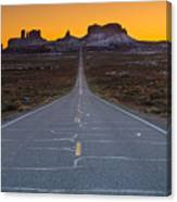 Long Road To Monument Valley Canvas Print