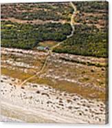 Long Road To The Coast Near Jekyll Island Canvas Print