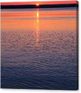 Long Sunset Canvas Print