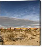 Long Train Near Barstow Canvas Print