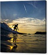 Longboarding Into The Sunset Canvas Print