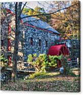 Longfellow's Wayside Inn Grist Mill In Autumn Canvas Print