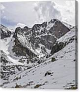 Longs Peak Winter Canvas Print
