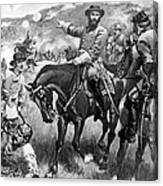 Longstreet At Gettysburg Canvas Print