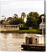 Looking At The Boardwalk Gazebo Walt Disney World Canvas Print