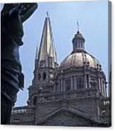Looking At The Cathedral Guadalajara Mexico Canvas Print