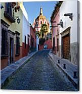 Looking Down Aldama Street, Mexico Canvas Print
