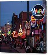 Looking Down Beale Street Memphis Canvas Print