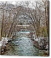 Looking Down Clifty Creek Canvas Print