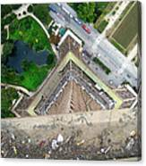 Looking Down From The Eiffel Tower Canvas Print