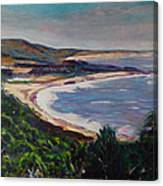 Looking Down On Half Moon Bay Canvas Print