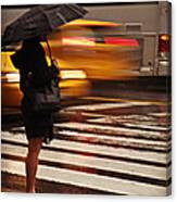 Looking For A Taxi - Rush Hour New York Canvas Print