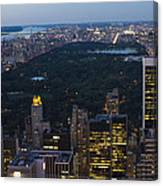 Looking From Top Of The Rock Canvas Print