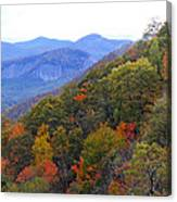 Looking Glass Rock And Fall Colors Canvas Print
