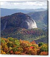 Looking Glass Rock And Fall Folage Canvas Print