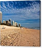 Looking North Along The Beach Canvas Print