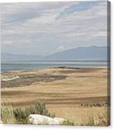 Looking North From Antelope Island Canvas Print