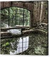 Looking Out 2 - Paradise Springs Spring House Interior  Canvas Print