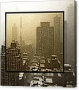 Looking Out On A Snowy Day - Nyc Canvas Print