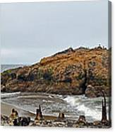 Looking Out On The Pacific Ocean From The Sutro Bath Ruins In San Francisco  Canvas Print