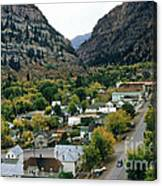 Looking Over Ouray From The Sutton Mine Trail Circa 1955 Canvas Print
