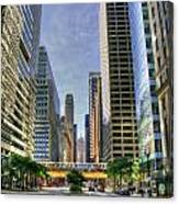 Looking South On Lasalle Canvas Print