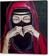 Looking Through Niqab Canvas Print