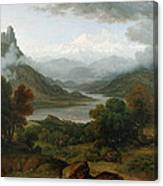 Looking Towards The Val Daosta, Bernese Canvas Print