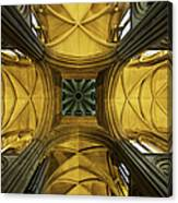 Looking Up At A Cathedral Ceiling Canvas Print