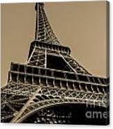 Looking Up At Eiffel Canvas Print