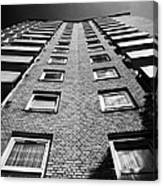looking up at stangate house 1950s tower block flats housing lambeth London England UK Canvas Print