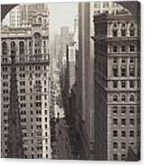 Looking Up Broadway In Nyc Canvas Print