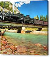 Looking Up From The Riverbed Canvas Print