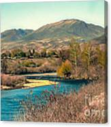 Looking Up The Payette River Canvas Print