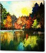 Autumn In Loon Country Ll Canvas Print
