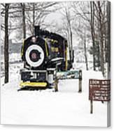Loon Mountain Train Canvas Print