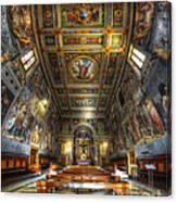 L'oratorio Del Santissimo Crosifisso Canvas Print